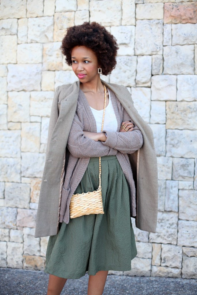 02_layer_lady_olive_green_neautral_tones_natural_afro_hair_topshop_cardi_yde_coat_mrp_midi_skirt_shoestock_shoes_through_shaded_eyes_by_tokelo_mostepe