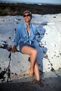 06_out_of_the_blue_denim_shirt_denim_short_headwrap_cat_eye_sunglasses_tokelo_motsepe_through_shaded_eyes